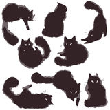 设置猫-传染媒介 免版税库存图片