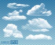 设置现实透明cloudsin天空蔚蓝 皇族释放例证