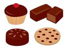 设置甜点 向量例证