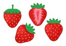 设置甜草莓 向量 库存例证