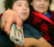设置电视 免版税图库摄影