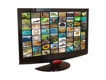 设置电视 免版税库存图片
