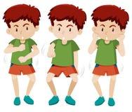 设置男孩跳舞 向量例证