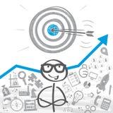 设置目标概念 向量例证