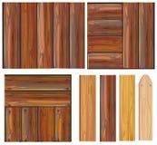设置符号向量木 免版税库存照片