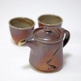 设置粗陶器茶底格里斯河 库存照片