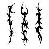 设置纹身花刺部族设计 库存例证