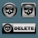 设置网按钮删除 免版税库存图片