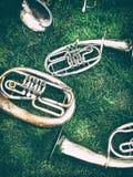 设置老乐器 免版税图库摄影
