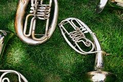 设置老乐器 免版税库存照片