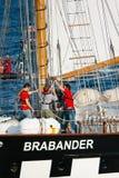 设置船的brabander风帆 库存照片