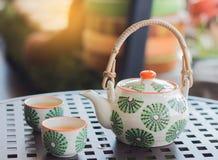 设置茶 免版税图库摄影
