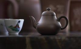 设置茶 库存图片