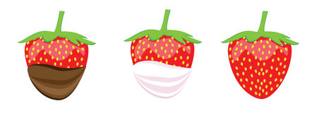 设置草莓 免版税库存图片