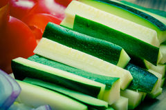 设置蔬菜 选择聚焦 定调子 免版税图库摄影
