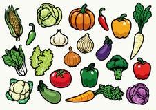 设置蔬菜 皇族释放例证
