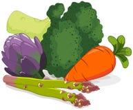 设置蔬菜 免版税库存照片