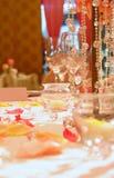 设置表婚礼 免版税库存图片