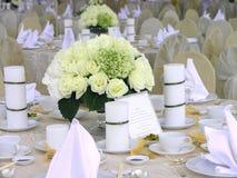设置表婚礼 图库摄影