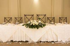 设置表婚礼 库存照片