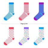 设置袜子 原始设计 免版税库存图片