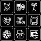 设置象-计算机,网,互联网,技术 免版税库存照片