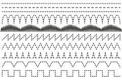 设置针缝纫机 插队 免版税库存图片