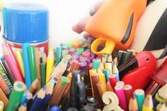 设置铅笔颜色 免版税库存图片