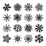 设置雪花向量 圣诞节符号 xmas 库存例证