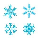 设置雪花向量 雪剥落象 向量例证
