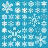 设置雪花 向量例证