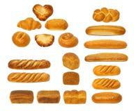 设置面包 免版税库存图片