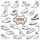 设置鞋子 向量例证