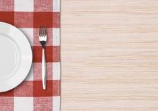 设置顶视图的饭桌 免版税库存照片