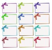 设置颜色和白色圆点卡片 免版税库存图片