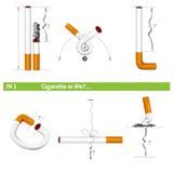 """设置香烟或生活â """"– 1 库存例证"""