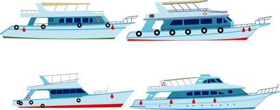 设置马达游艇 库存图片