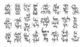 设置25只手字法题字文本、刺激和inspir 皇族释放例证