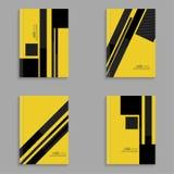 设置黑条纹杂志的盖子  免版税库存照片