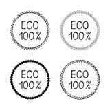 设置eco标签胶粘物 库存图片