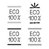 设置eco标签胶粘物 库存照片