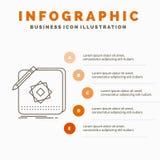 设计、应用程序、商标、申请、设计Infographics模板对网站和介绍 r 库存例证