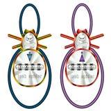 设计为缆绳锁-蜘蛛男性和女性 库存照片