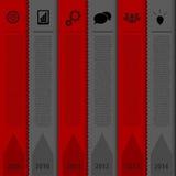 设计书签模板 Infographics时间安排 向量 免版税库存图片