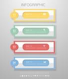 设计企业概念的干净的模板4步 免版税库存照片