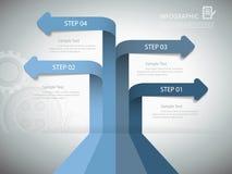 设计企业概念的,传染媒介illutration eps10 infographic模板 免版税库存照片