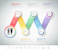 设计企业模板的Infographic模板 免版税图库摄影