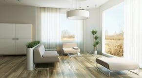 设计休息室空间 库存例证