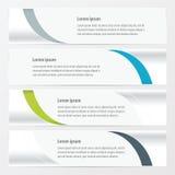 设计传染媒介横幅绿色,蓝色,灰色颜色 免版税库存照片