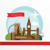 设计例证伦敦地平线您 也corel凹道例证向量 库存图片